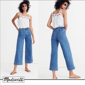 Madewell Emmett Wide Leg Crop Jeans Rosalie awash